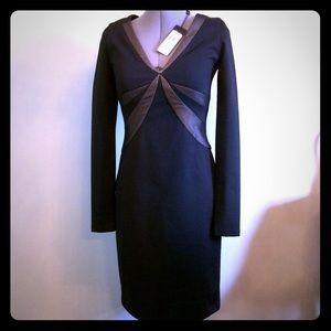 NWT BCBG Dress Size Small Black and Gray/Silver