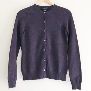 Sutton Studio Purple 100% Cashmere Cardigan