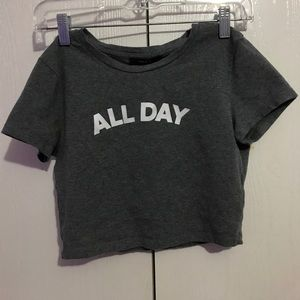 """All Day"" crop top"