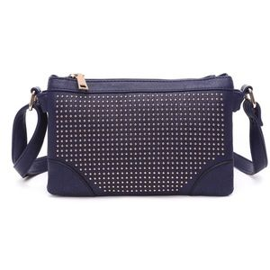 Navy Embellished Crossbody Bag