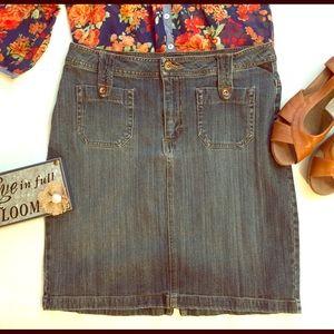 Riders Copper Collection denim mini skirt