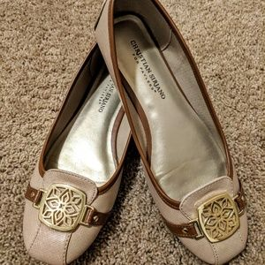Christian Siriano Flats Beige Size 7.5