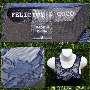 (S) felicity & coco bodycon dress with lace yoke