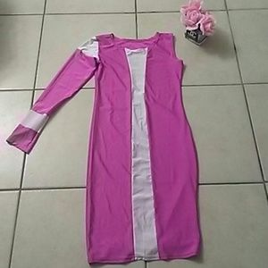 *For Sale*  Hot....Pink and off white dress