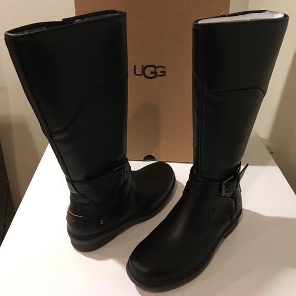 60617560416 New Classic Ugg Evanna leather tall black boots ❤️ NWT