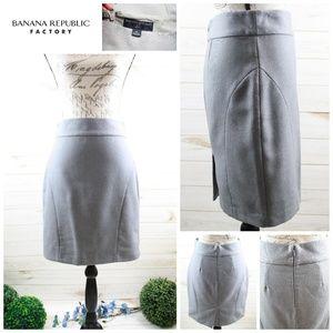 Banana Republic Grey Textured Pencil Skirt