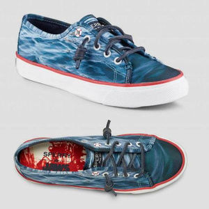 New Sperry Seacoast Jaws Blue Sneakers Shoes 6.5