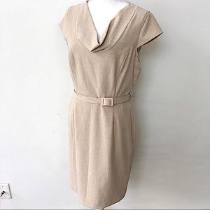 NWT Calvin Klein beige belted sleeveless dress, 10