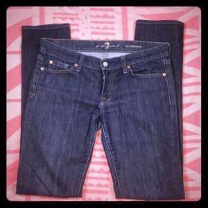 7 For All Mankind Jeans Skinny Roxanne Denim Sz 29