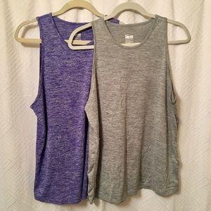 2 Nike Dri-Fit Tops (Gray & Purple)