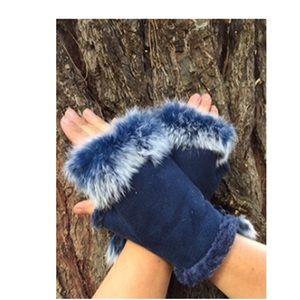 Faux Fur Fingerless Gloves