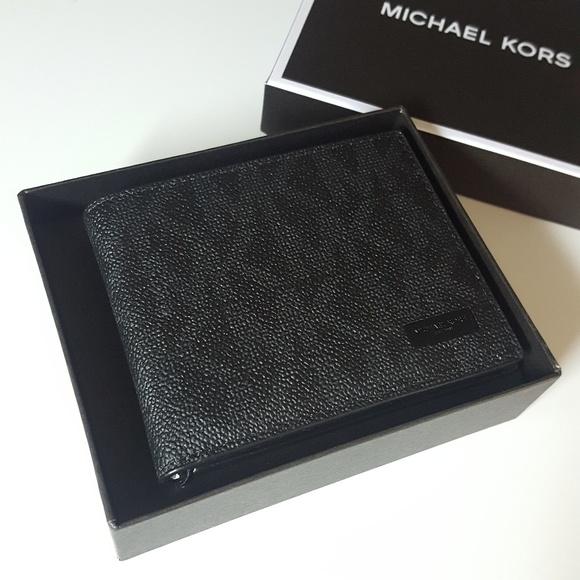 01a3a2320f1b NWT MICHAEL KORS Mens Jet Set RFID Slim wallet