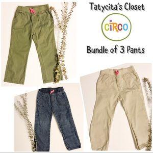 Bundle of 3 Pants - 3T little girl