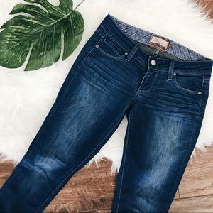 Paige • Blue Heights Low Rise Skinny Jeans