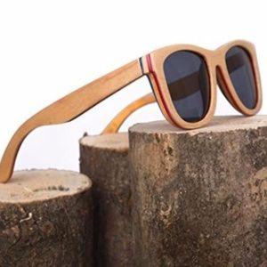 Genuine Wood Wayfarer Sunglasses NEW