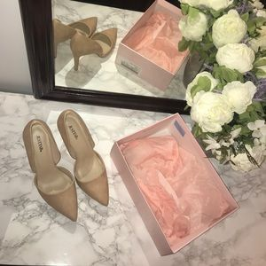 TAUPE HEELS, JUST FAB