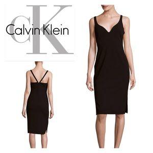 Calvin Klein V-Neck Bodycon Dress