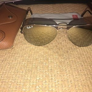 Ray Ban Classic Mirror Aviator Sunglasses