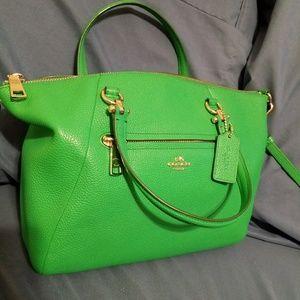 Coach prairie satchel in Kelly green