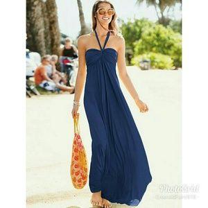 Victoria Secret Blue Bra Tops Maxi Dress, XS