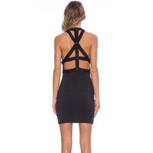 Asilio Black Fall To Pieces Crisscross Back Dress