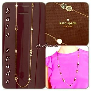 💯%Authentic KATE SPADE Scatter Necklace Neutral♠️