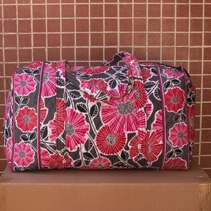 Vera Bradley Large Duffle Bag in Cherry Blossom