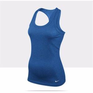 Nike Dri-FIT Rib Women's Tank Top XS Royal Blue NW