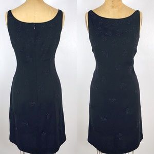 Vintage Loft Black Beaded Sleeveless Midi Dress