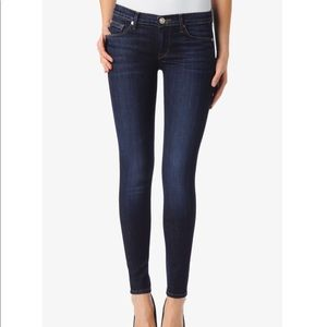 Hudson dark denim skinny's