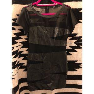 Forever 21 Leather Mini Dress