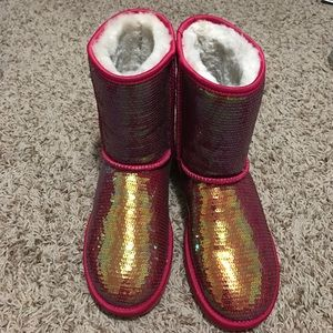 UGG pink sparkly boots