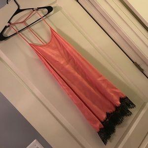 Sexy bottom lace strappy dress