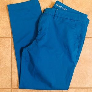 Fun and Bright Blue Gap Khakis!