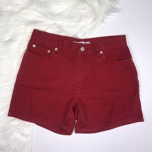 Tommy Hilfiger Vintage Jean Red Mom Shorts.