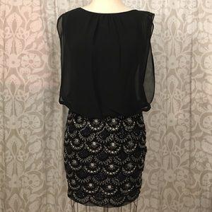 Aidan Mattox beaded dress skirt blouse
