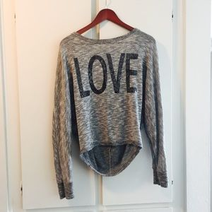 Cute Grey LOVE Scoop Next Shirt