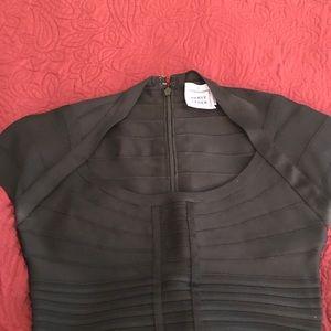 Herve Leger Black fitted dress