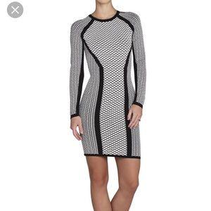 BCBGMAXAZRIA Elizabeth Jacquard Dress