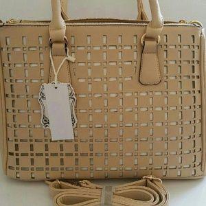 New cream beige handbag