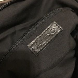 Aldo Bags - ALDO black and light grey damask pattern purse