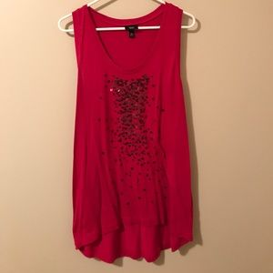 Tops - 🔴Sequin decorated tank top