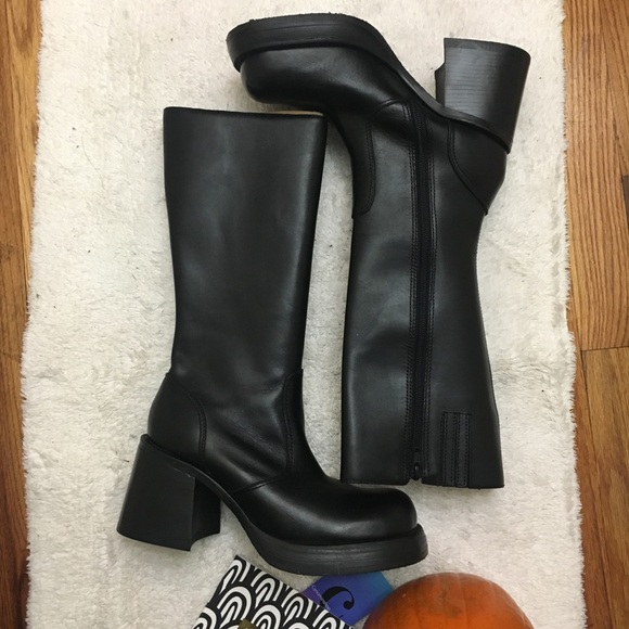 "47251345b9a Steve Madden ""Ray"" Tall Black Block Heel Boot"
