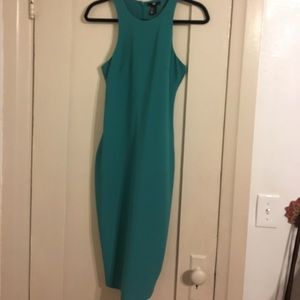 Teal Pencil Razor Back Dress from H&M