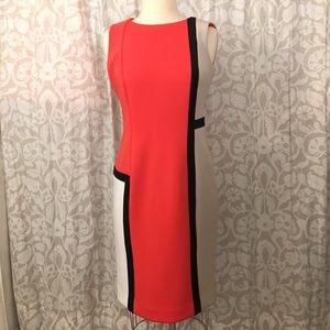 Calvin Klein scuba 3 tone bodycon dress