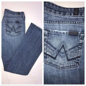 """7 For All Mankind  """"A"""" Pocket Blue Jeans Size 30"""
