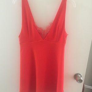 💋NWT FOREVER21 RED ORANGE MINI DRESS