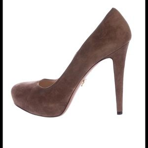 Prada suede high heel shoes SZ 38