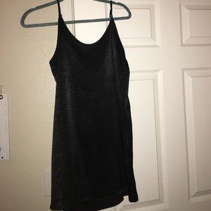 """""""Full Tilt"""" Black slip dress"""