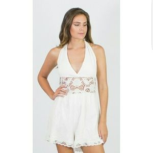 NWOT Free People Day Dream Romper White